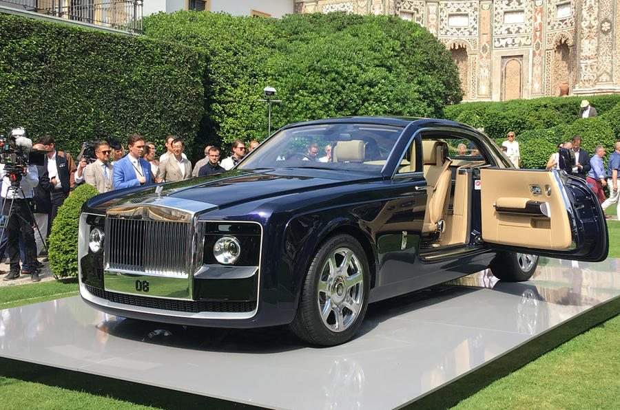 rolls royce sweptail open door - La voiture la plus chère du monde imaginée par Rolls-Royce Sweptail