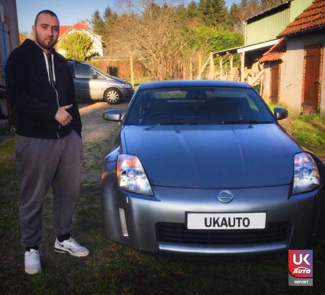 ukautp import 1 - Felecitation a Julien Manifique NISSAN 350Z rhd V6 par ukauto import pour la region de Tours