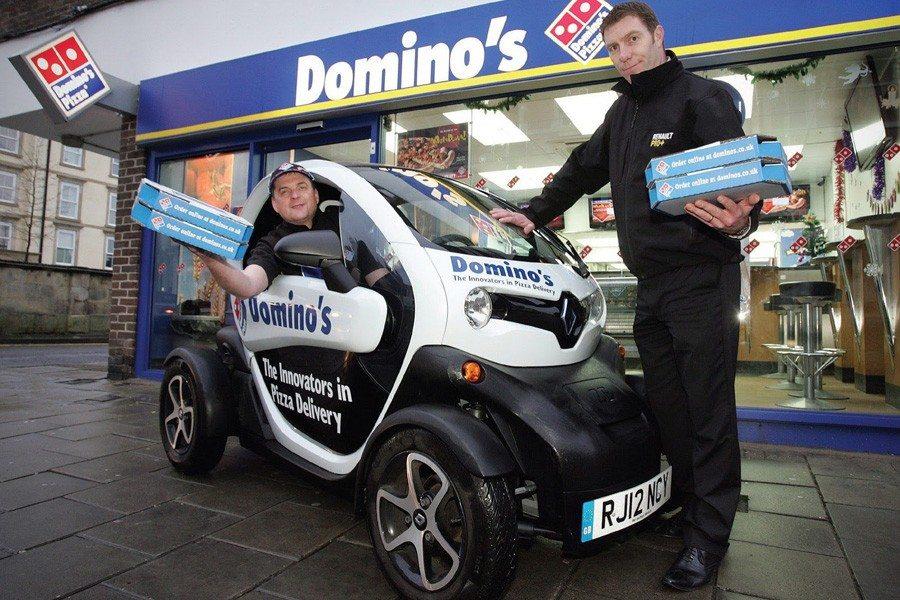 voiture française en Angleterre1 - Domino's Pizza rouler en voiture française en Angleterre