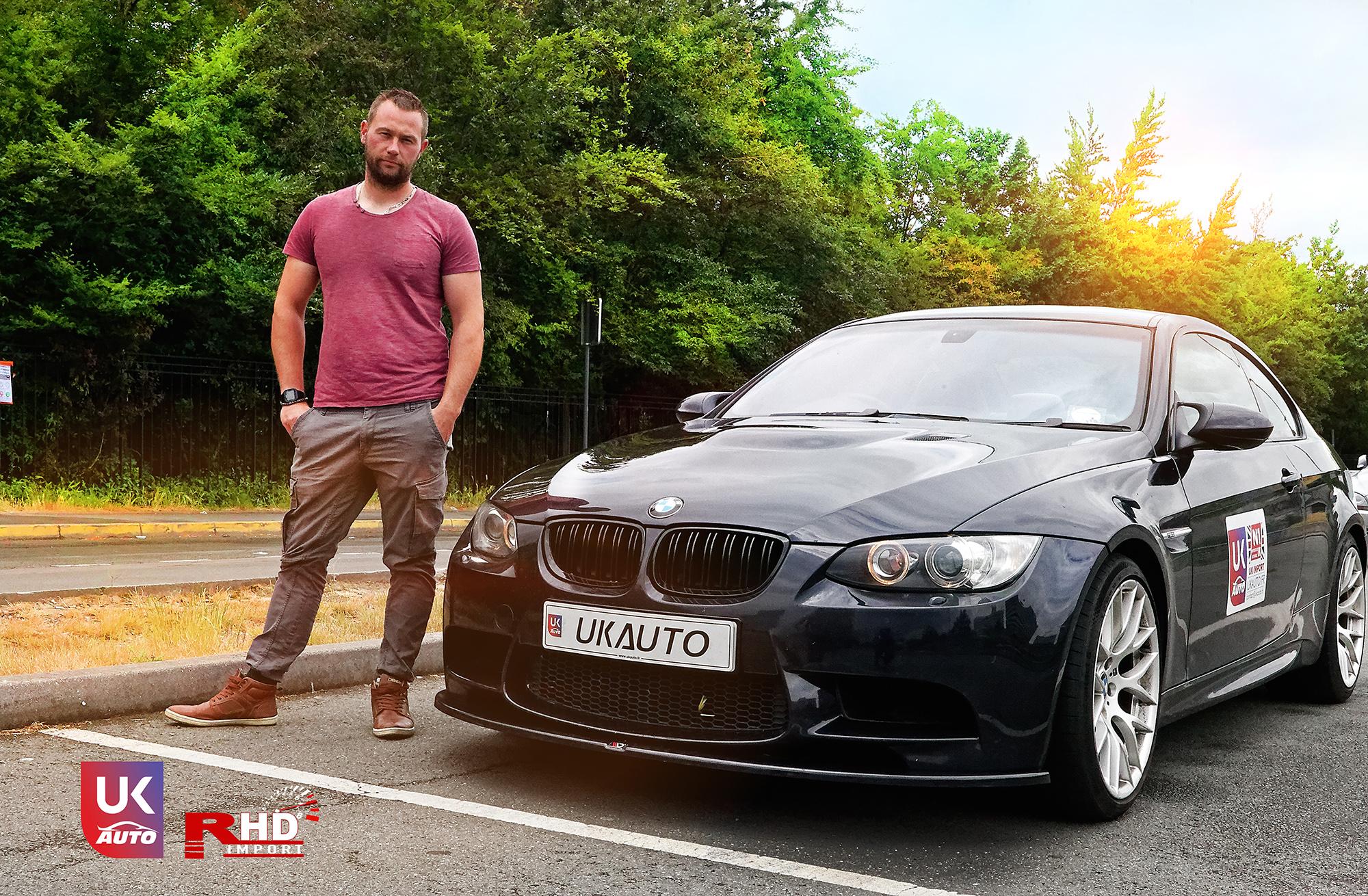 BMW m3 rhd ukauto importer voiture angleterre uk14 - Felecitation a Sylvain Pour cette BMW M3 E92 RHD pour avoir acheter une voiture en angleterre avant le brexit