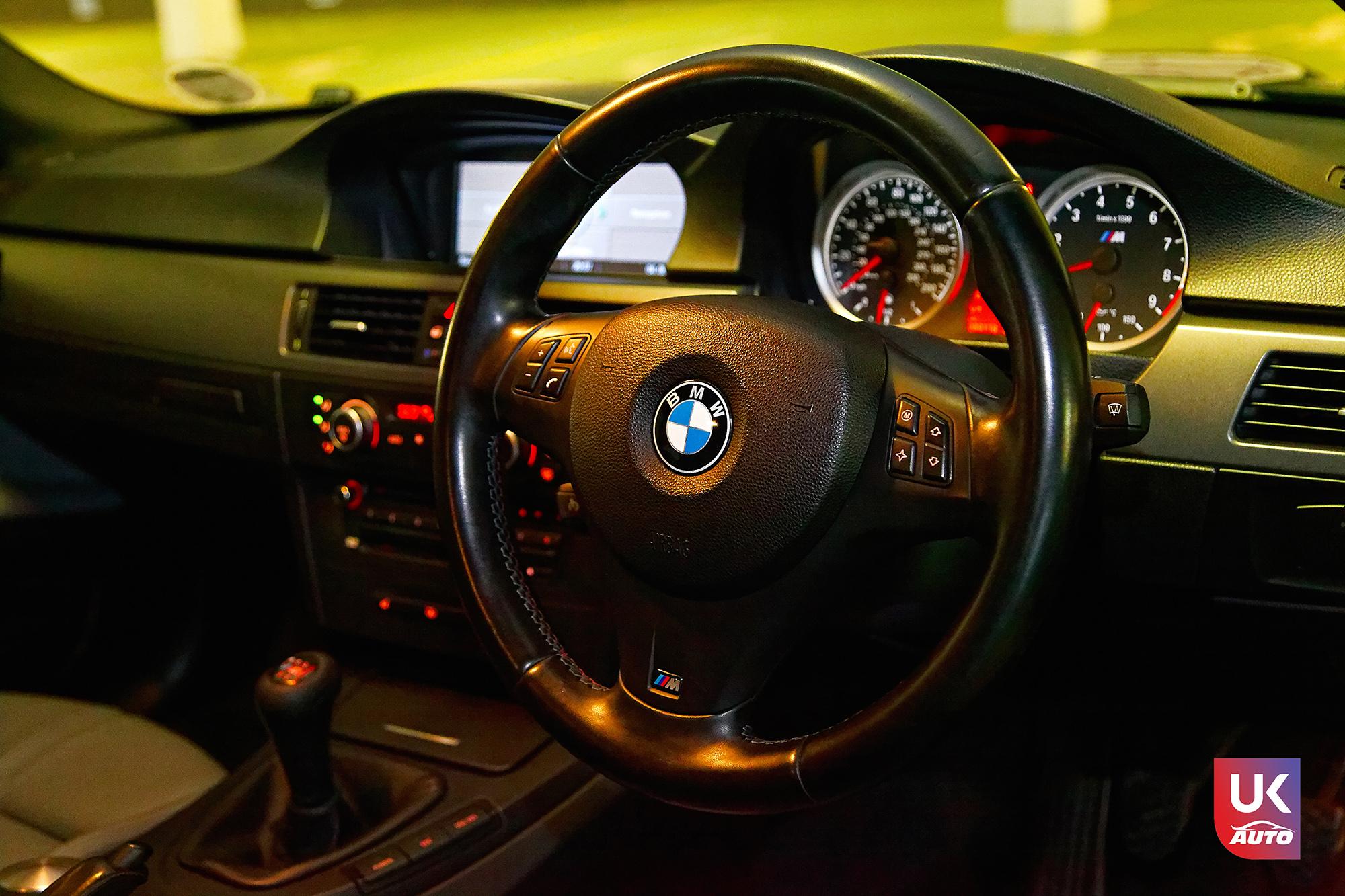 BMW m3 rhd ukauto importer voiture angleterre uk8 - Felecitation a Sylvain Pour cette BMW M3 E92 RHD pour avoir acheter une voiture en angleterre avant le brexit