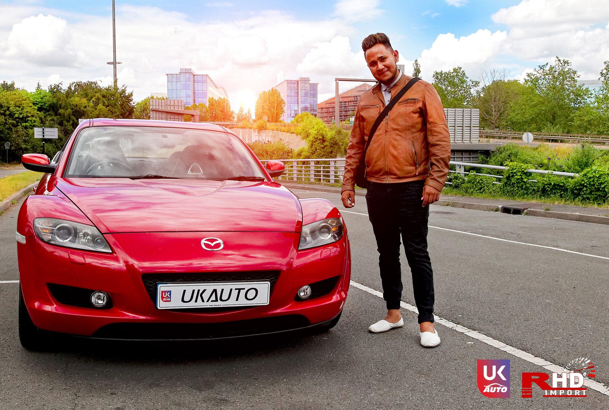 ukauto import uk angleterre mazda rx8 import voiture anglaise auto uk14 - Felecitation a Jeremie pour cette Mazda RX8 RHD import voiture anglaise N1 UK