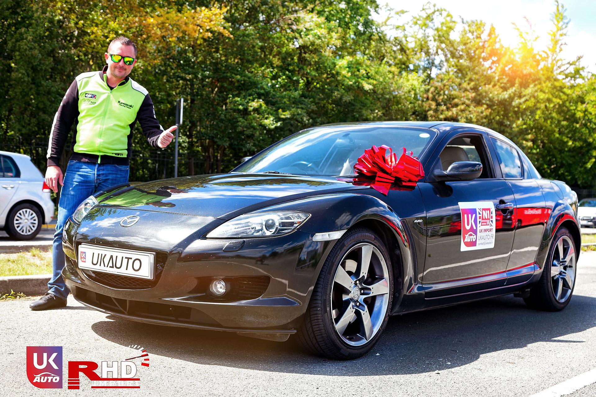 Mazda RX8 Rotary mazda angleterre mazda uk RX8 KURO import uk rhd13 DxO - Import Mazda RX8 KURO ROTARY depuis Autotrader par UKAUTO site annonces UK rhd Felicitation a Dimitri