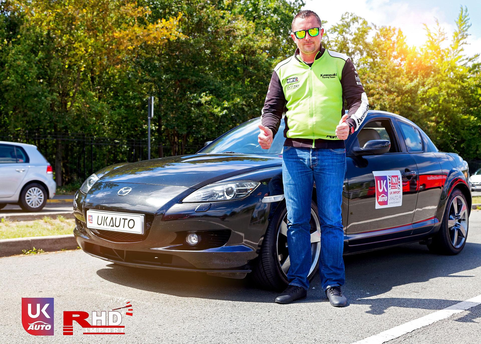 Mazda RX8 Rotary mazda angleterre mazda uk RX8 KURO import uk rhd15 DxO - Import Mazda RX8 KURO ROTARY depuis Autotrader par UKAUTO site annonces UK rhd Felicitation a Dimitri